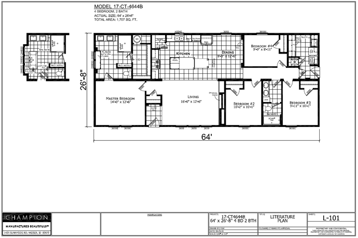 4644B XL Floorplan